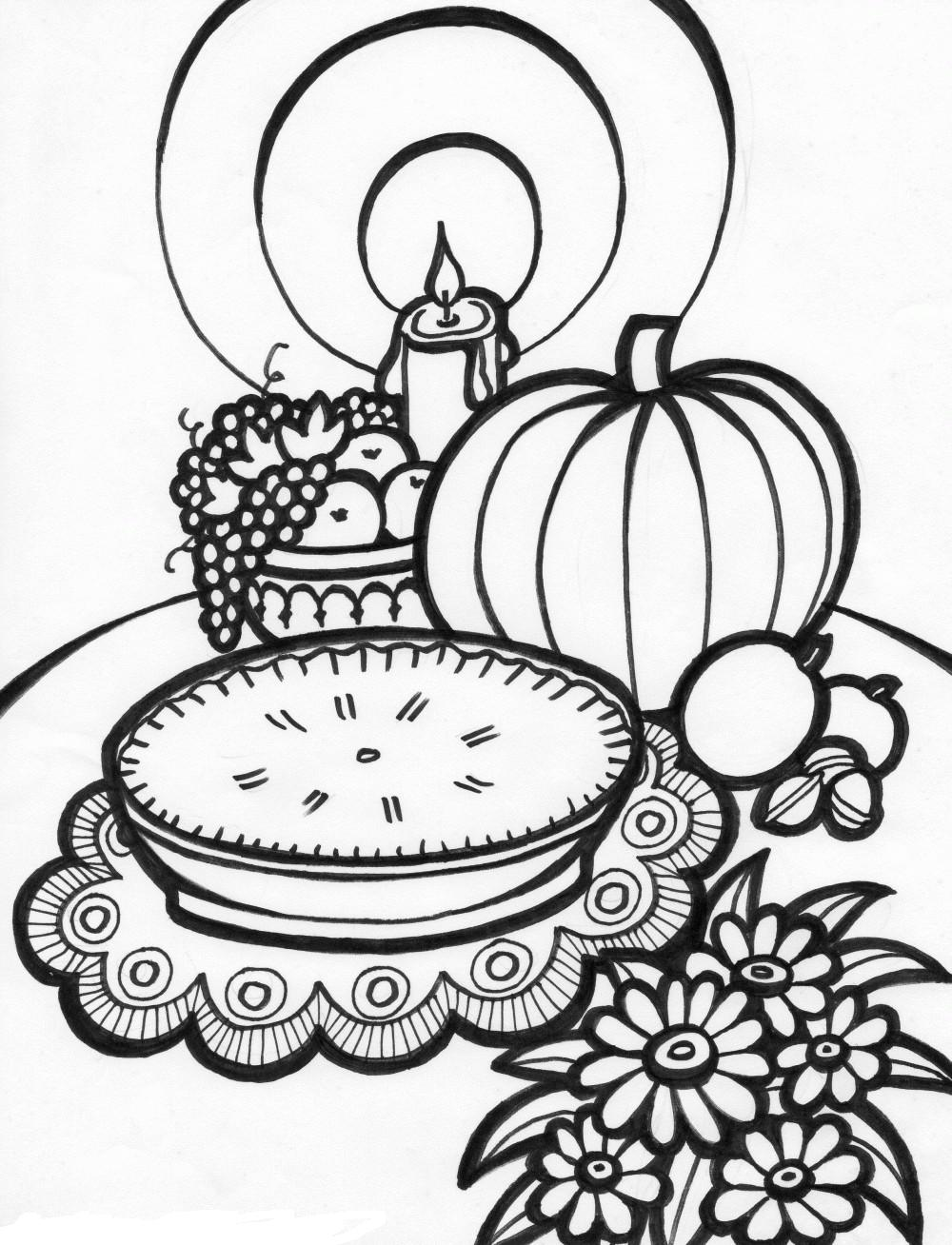 free coloring pages for adults thanksgiving : 16 Free Thanksgiving Coloring Pages For Kids Toddlers Simply Chacha